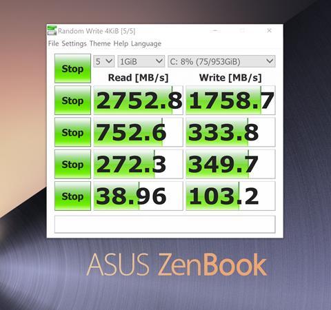 Benchmark SSD Asus ZenBook S UX391UA