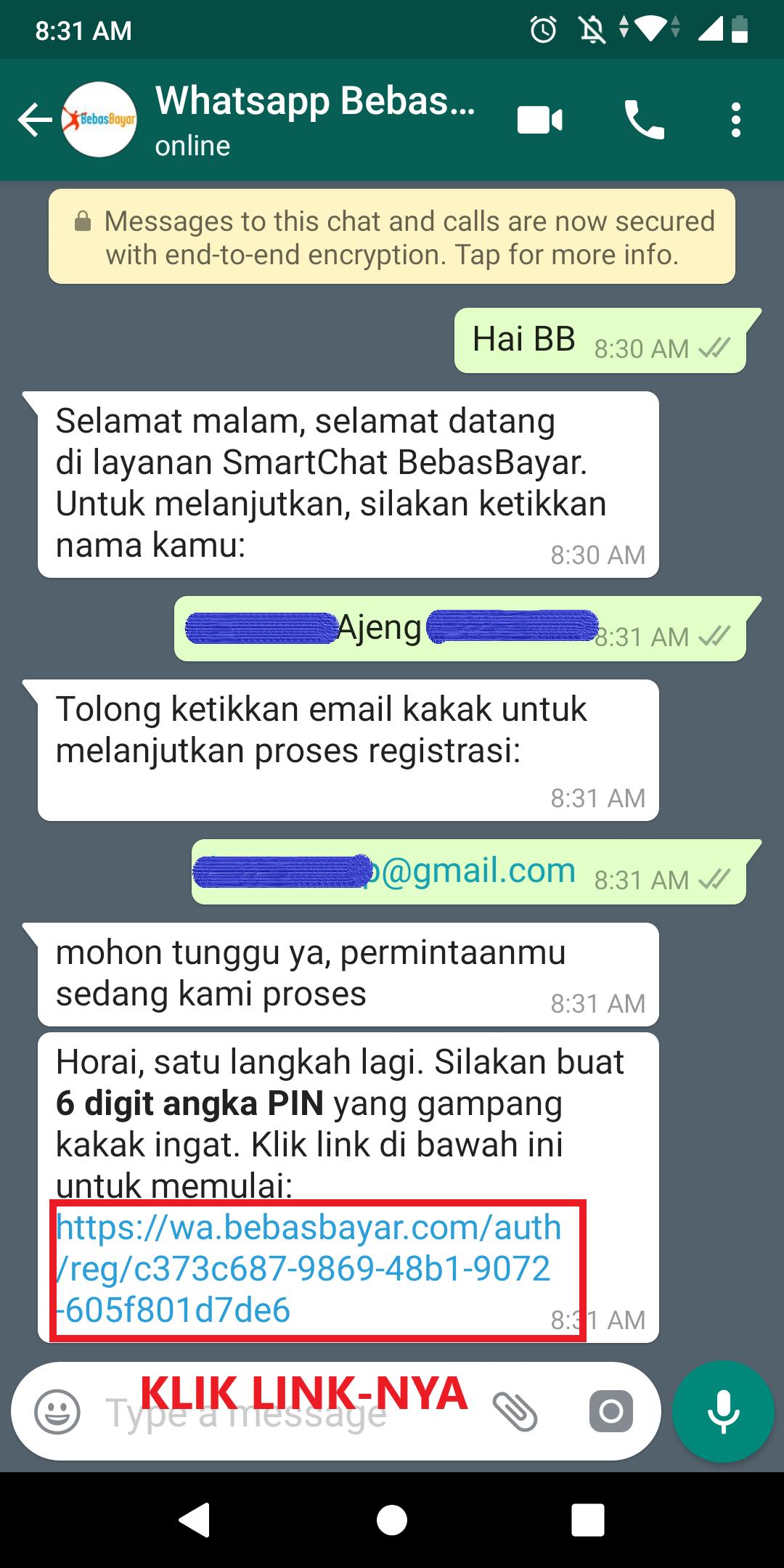 Cara Menggunakan Whatsapp BebasBayar 3