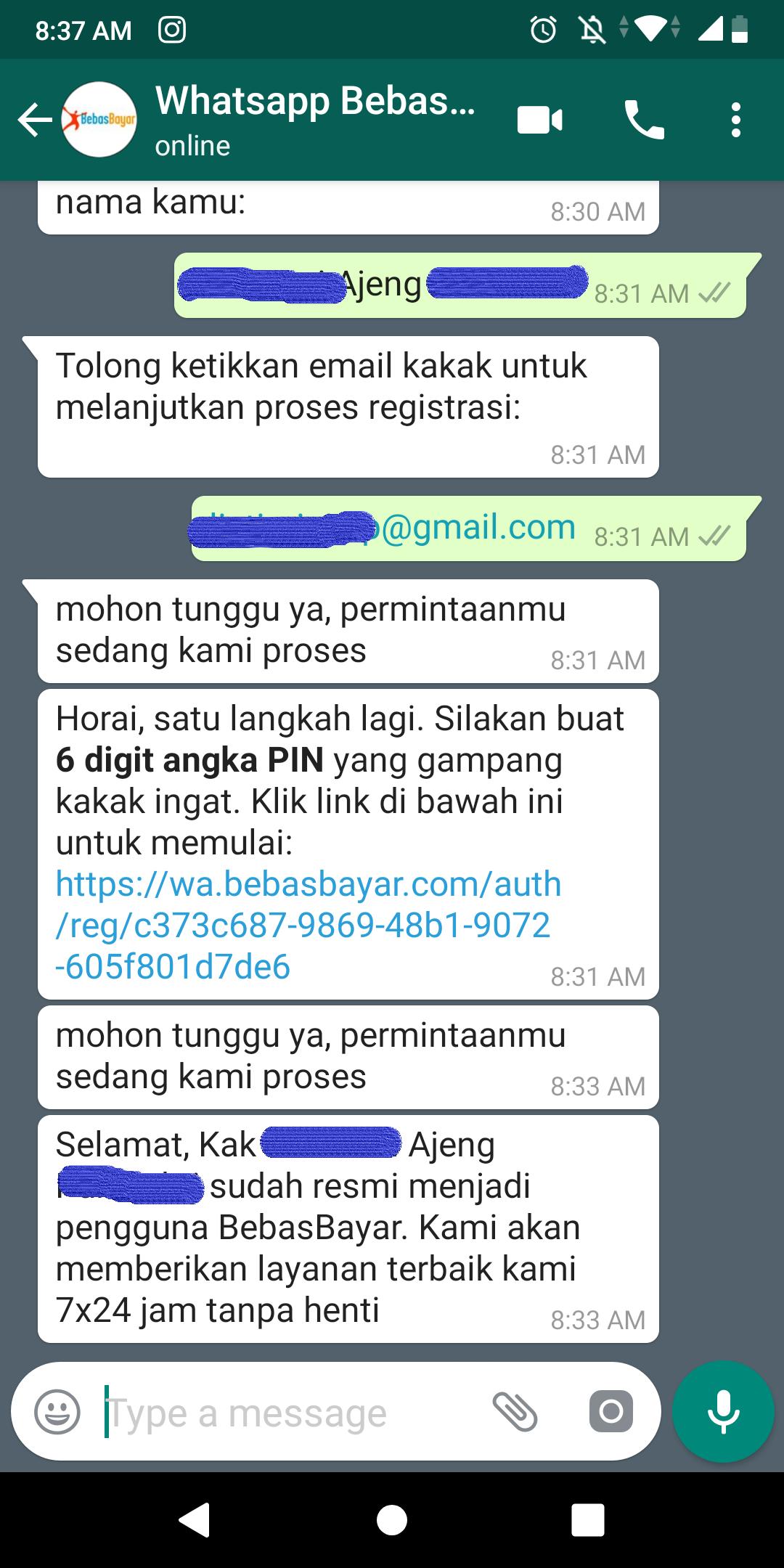 Cara Menggunakan Whatsapp BebasBayar 5