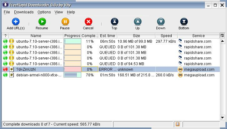 Free Rapid Downloader