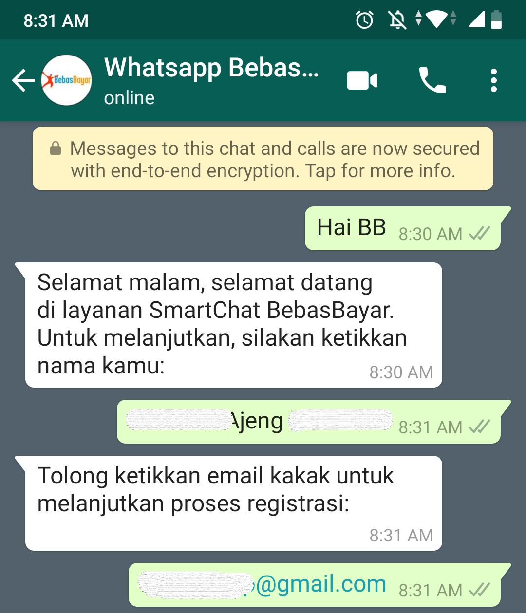 Cara Menggunakan Whatsapp BebasBayar 2