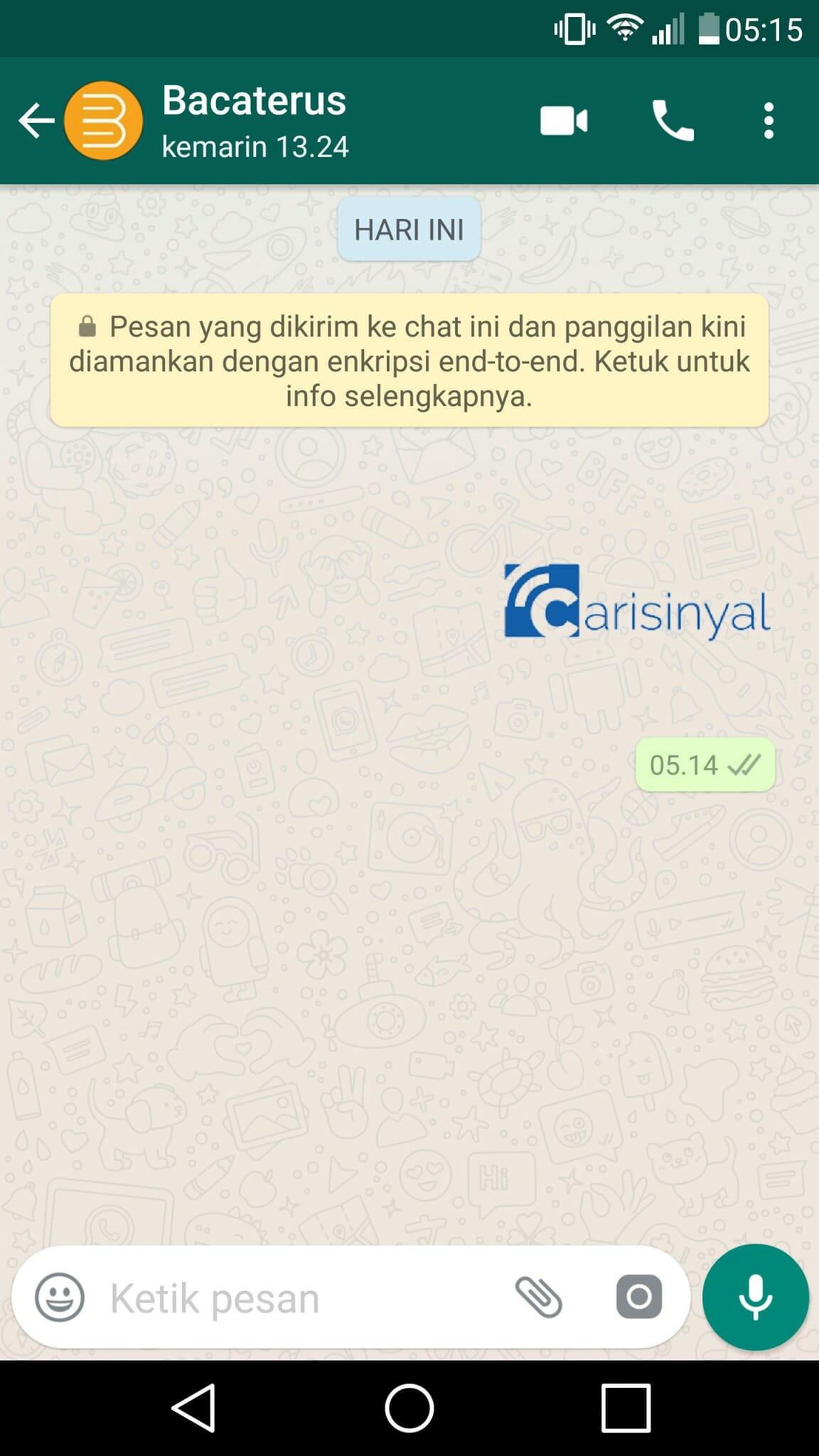 sticker logo carisinyal whatsapp