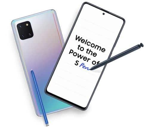 Layar Galaxy Note 10 Lite