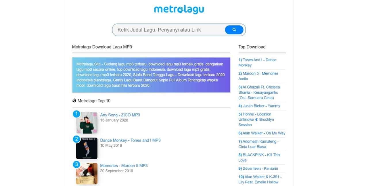 metrolagu 1 cara download lagu gratis