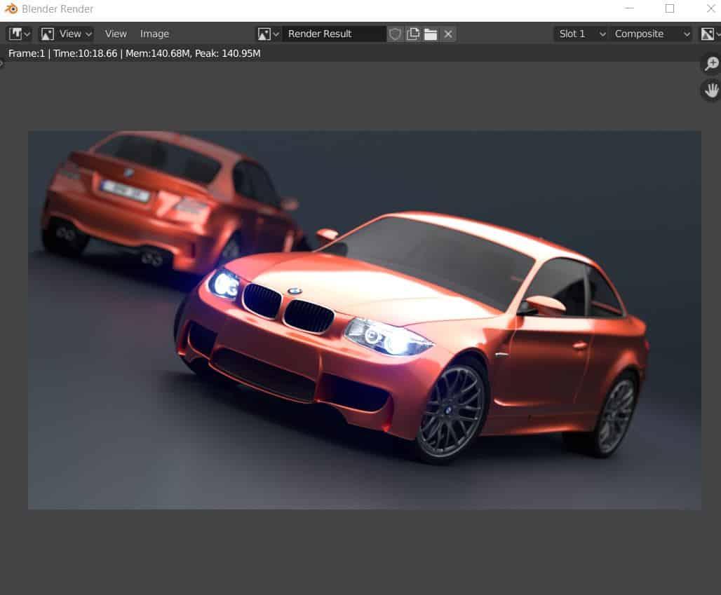 Blender Render BMW Image asus tuf fx505du