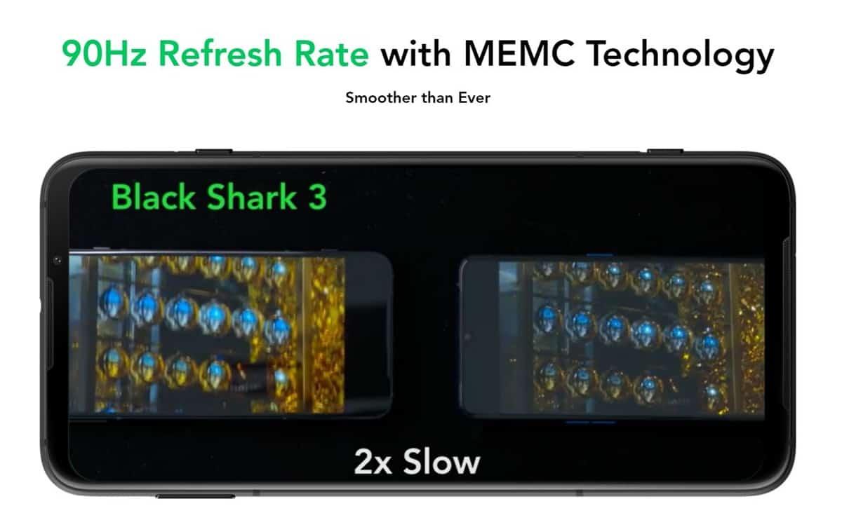black shark 3 laju penyegaran 90hz
