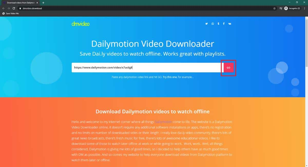 Download lewat dmvideo
