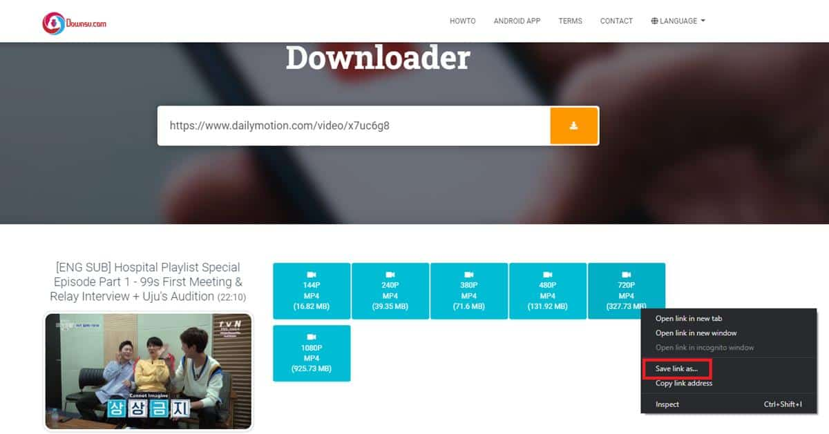 Download lewat downsv