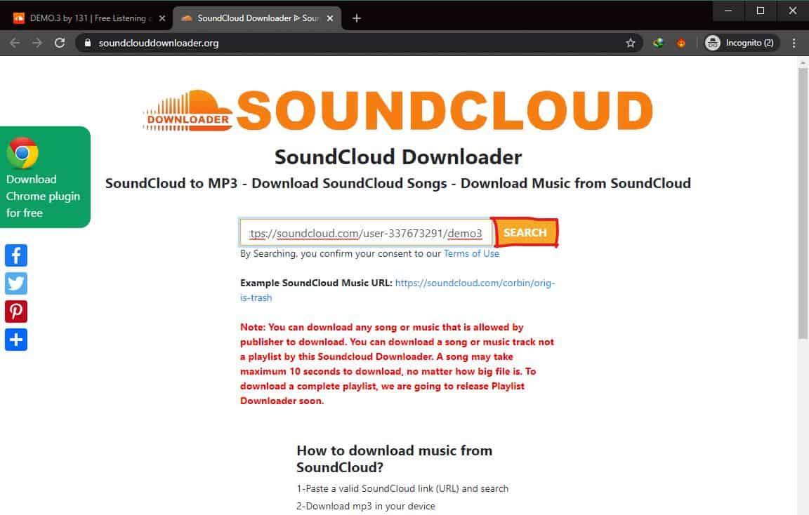 Download Lewat soundclouddownloader.org
