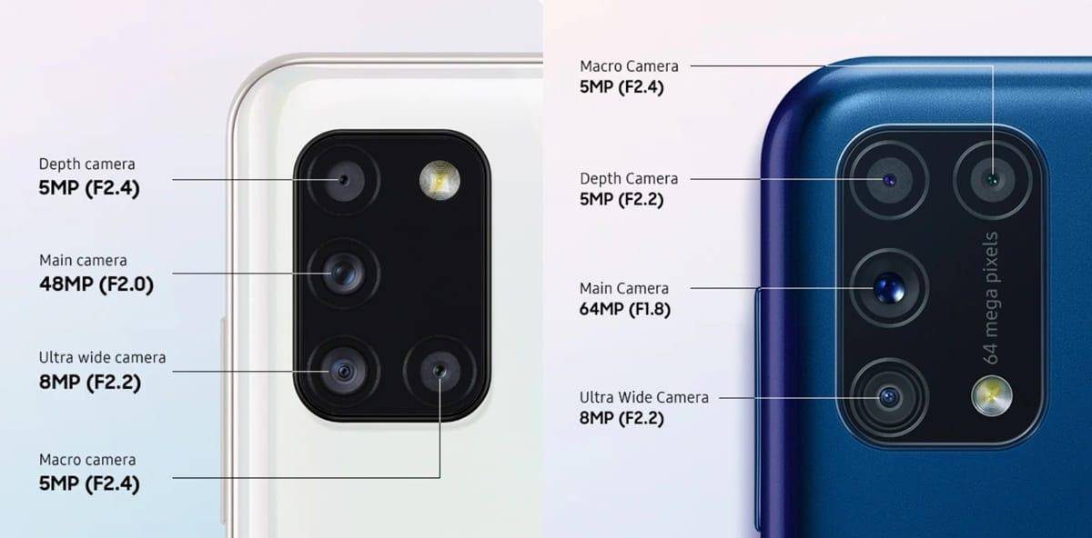 kamera a31 dan m31
