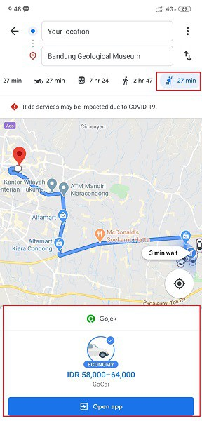 Lewat Google Maps