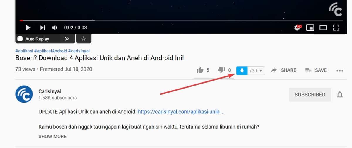download youtube tanpa software 111