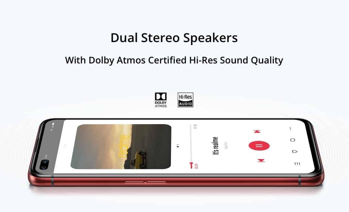 dual speaker realme x50 pto