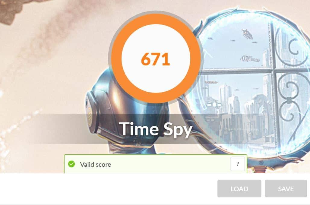 3d mark time spy ASUS ZENBOOK 13 UX325J