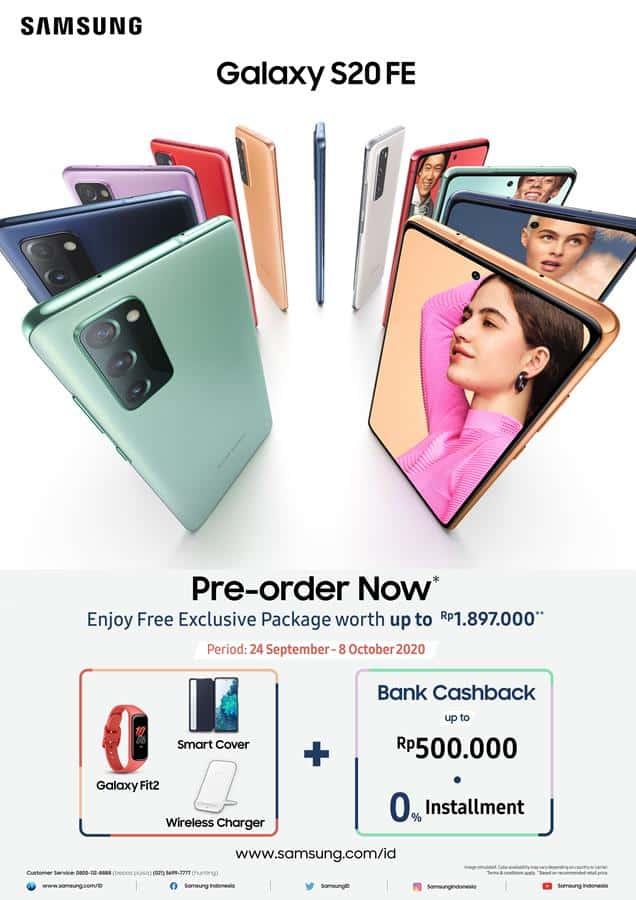Samsung Galaxy S20 FE tersedia untuk Pre-Order mulai tanggal 24 September 2020 hingga 4 Oktober 2020
