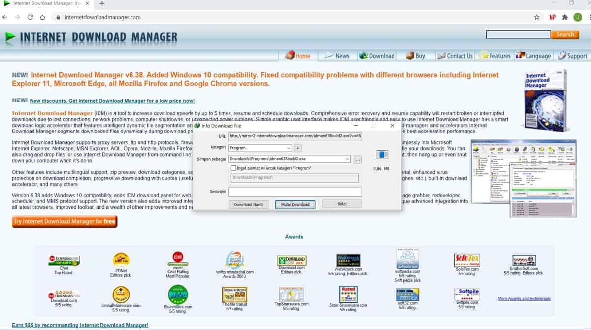 cara download dan instal aplikasi idm di laptop 4