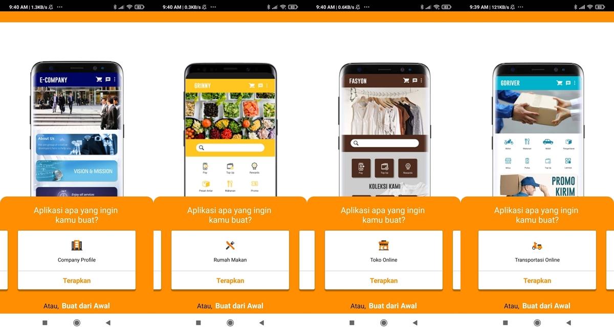 cara membuat aplikasi di Jagel.id