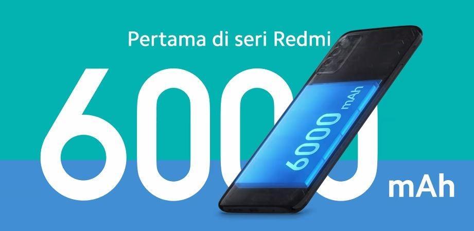 4. Redmi 9T 6000 mAh